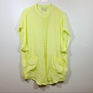 Anthropologie Saturday Sunday neon yellow tunic